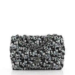 CC Chain Flap Bag Multicolor Sequins Mini