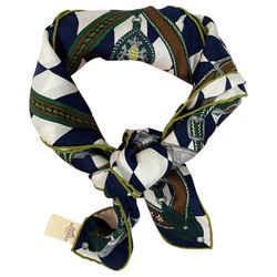 Hermes 100% Silk Scarf 70cm Parade De Leonardi Scarf Wrap
