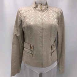 St John Tan Brocade Jacket 4