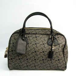 Celine Saluki Carriage Pattern Women's Leather,Coated Canvas Handbag Bl BF519608