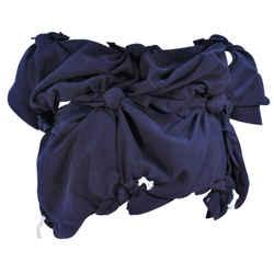 COMME DES GARCONS Navy Knot Blouse Size XS