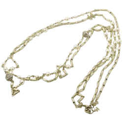 Chanel A16A Champagne CC Pearl Crystal Necklace  861373