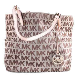 Michael Kors Jet Set Monogram Tote Bag Brown One Size Authenticity Guaranteed