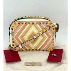 Valentino Rockstud Colorblock Crossbody Camera bag Multicolor Calfskin B183