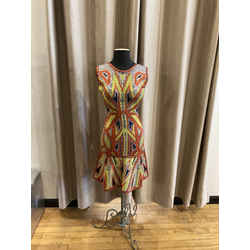 Herv Leger Knit Printed Dress