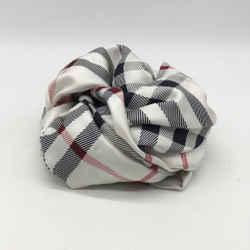 Burberry White Silk Scarf