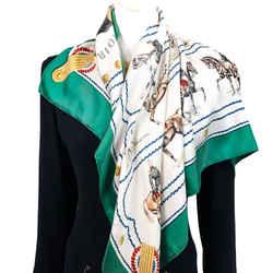 Cadre Noir Hermes Silk Scarf by Colonel G. Margot 90 cm Silk Twill