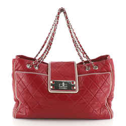 Mademoiselle Lock East West Tote Quilted Leather Large