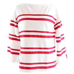 Nwt $225 Tory Burch Red/white Kendall Top, Size S