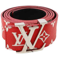 Louis Vuitton Ultra Rare 100/40 LV x Supreme Red Monogram Belt Initials 861349