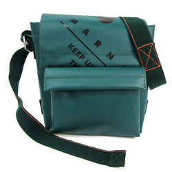 Marni Sbmq0001a0 Unisex Polyester,pvc Shoulder Bag Black,green Bf513842