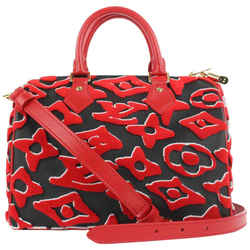 Louis Vuitton LVxUF Urs Fischer Red Monogram Speedy Bandouliere 25 Strap Bag 59lvs12
