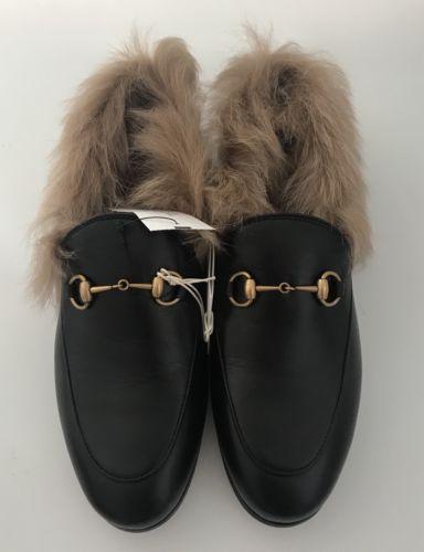 Nib Gucci Fur Lined Jordaan Womens