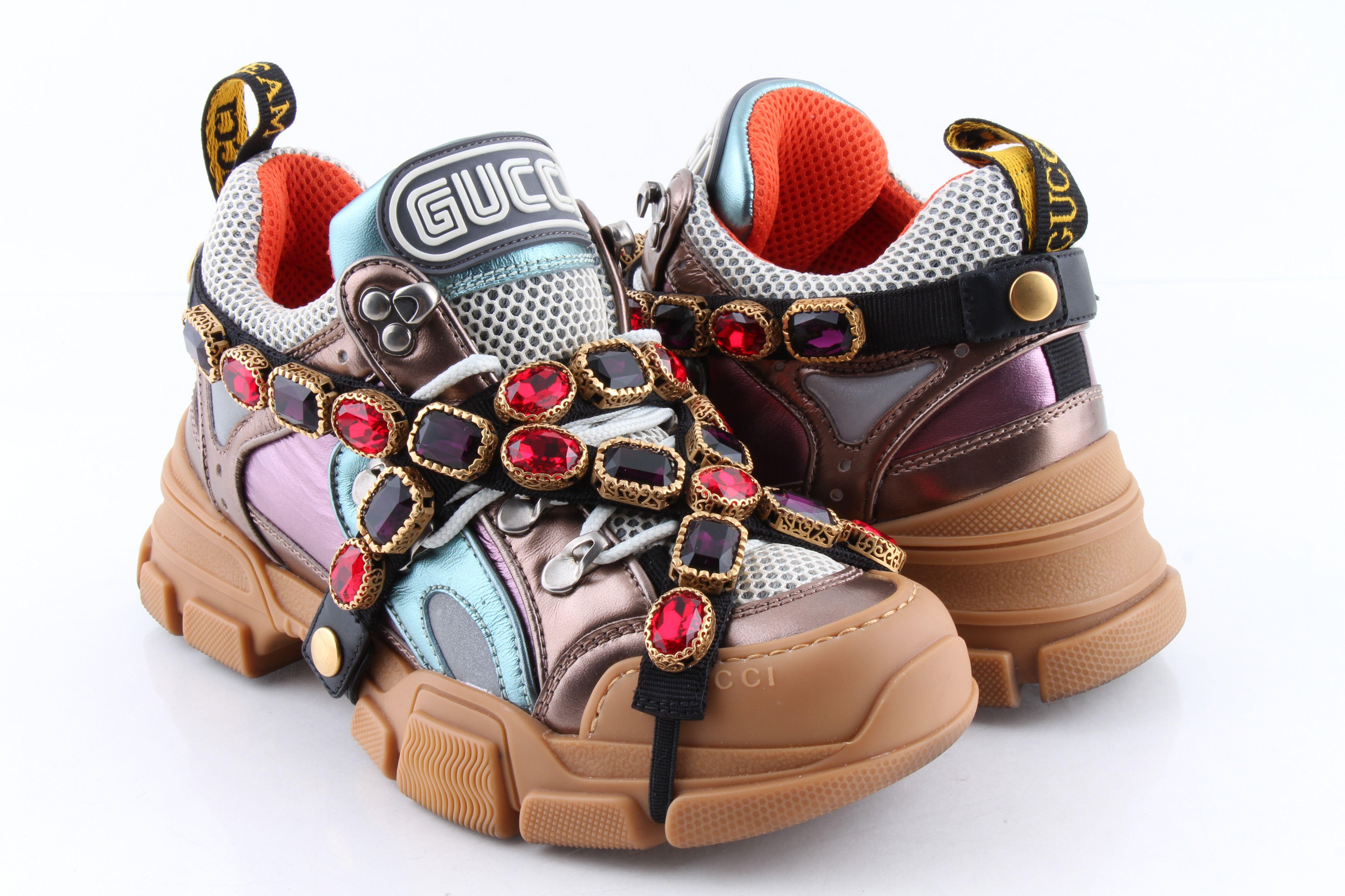 Gucci Flashtrek Sneaker Crystal Shoe
