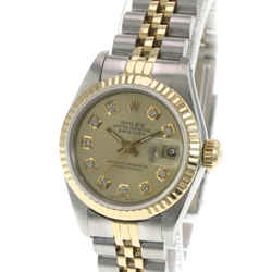 Rolex Lady Datejust Champagne Diamond Dial Fluted Bezel 26mm