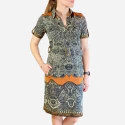 Abstract Printed Knee-length Dress