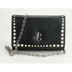 Jimmy Choo Varenne Leather and Pearl Clutch