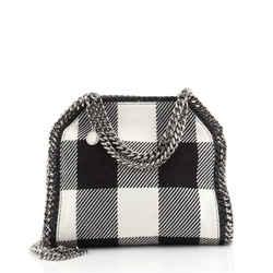 Falabella Fold Over Crossbody Bag Gingham Wool Mini
