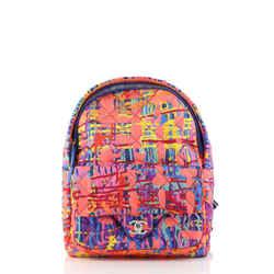 CC Pocket Backpack Quilted Printed Foulard Medium