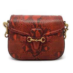 Gucci Lady Web Red Snakeskin Shoulder Bag