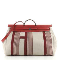 H Vibration Herbag Zip Cabine Printed Toile and Leather 50