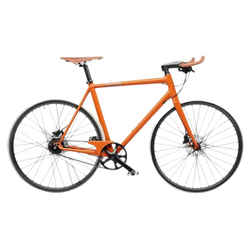 Hermes Orange Carbon Taurillon Leather Le Flaneur D'hermes Unisex Bicycle