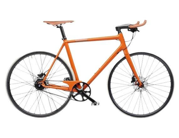 Hermes Orange Carbon Taurillon Leather Le Flaneur D'hermes Unisex Bicycle