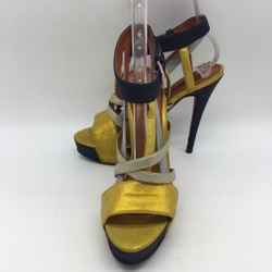 Missoni Yellow Strappy Heel 8