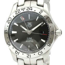 Polished TAG HEUER Link GMT Steel Automatic Mens Watch WJF2116 BF531329