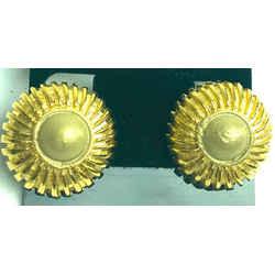 Chanel Gold Sunburst Earrings 2ca531