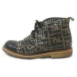Fendi Men's 8 Mongram FF Zucca Sequin Boot 863217