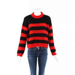 Ganni Striped Mohair Wool Knit Sweater SZ L