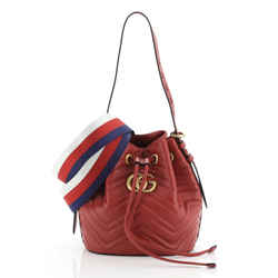 GG Marmont Bucket Bag Matelasse Leather Small