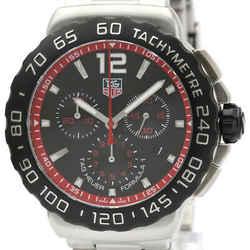 Polished TAG HEUER Formula 1 Chronograph Steel Quartz Watch CAU1116 BF513339