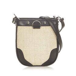 Vintage Authentic Burberry Brown Raffia Crossbody Bag United Kingdom