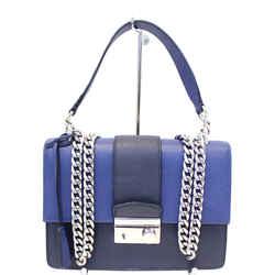 Prada Saffiano Leather Blue Shoulder Bag