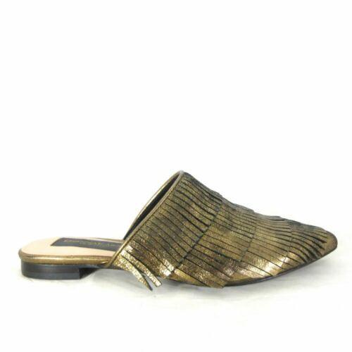 Donna Karan Brown Leather Tassle Fringe