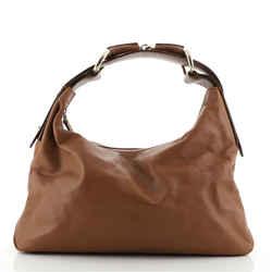 Horsebit Hobo Leather Medium