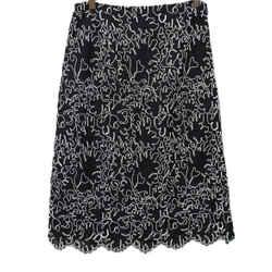 Michael Kors Black White Lace Skirt Sz 4