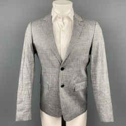 THEORY Size 38 Grey Linen Blend Notch Lapel Sport Coat