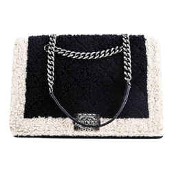 Chanel Large Shopping Boy Tote Navy/ivory