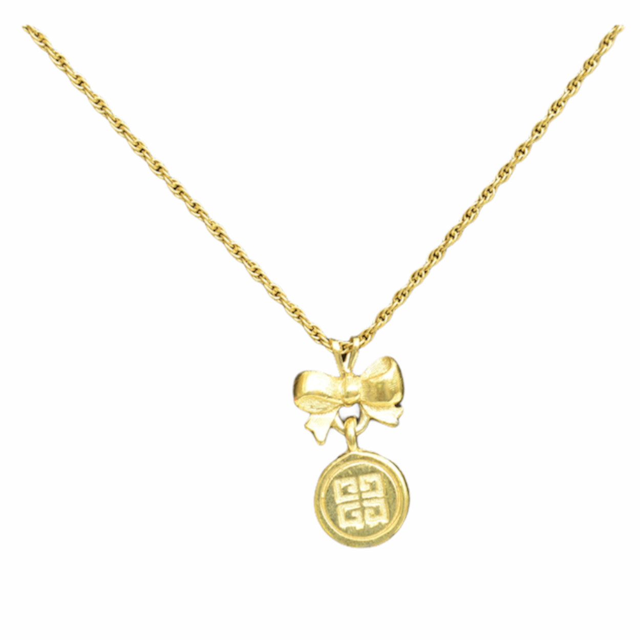 Sweet Gold Brass Heart Pendant with Rhinestone Detail and Square Chain 1980s Statement Love Gift Necklace