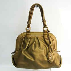 Bally Women's Leather Handbag Gold BF532334