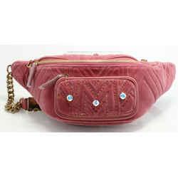MCM Furston Large Velvet Belt Bag - Pink