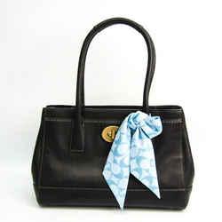 Coach Trim Medium Madeline 11553 Women's Leather Tote Bag Black BF516046