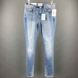 Frame Size 29 Blue Washed Cotton Blend Zip Fly Jeans