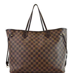 Louis Vuitton Neverfull GM Damier Ebene Tote Shoulder Bag Brown