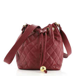 Vintage Bucket Bag Quilted Caviar Small