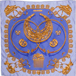HERMES Cavaliers d'Or Vintage Silk Scarf One2One Collaboration