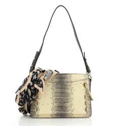 Roy Shoulder Bag Embossed Snake Small
